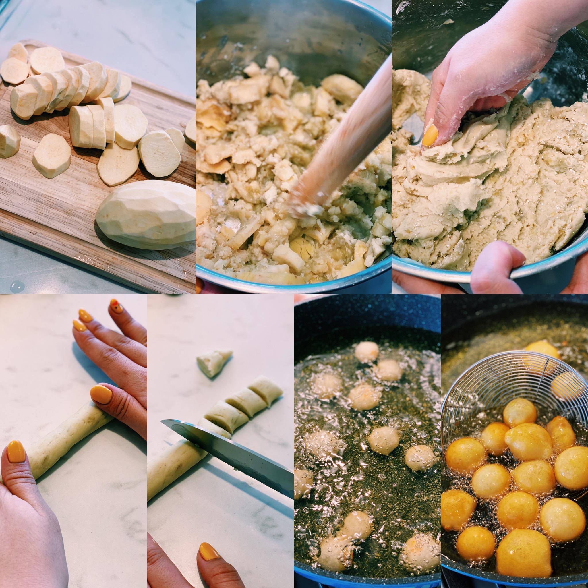How to make taiwanese fried yam balls