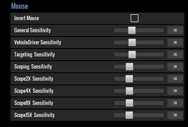 Aculite-mouse-settings