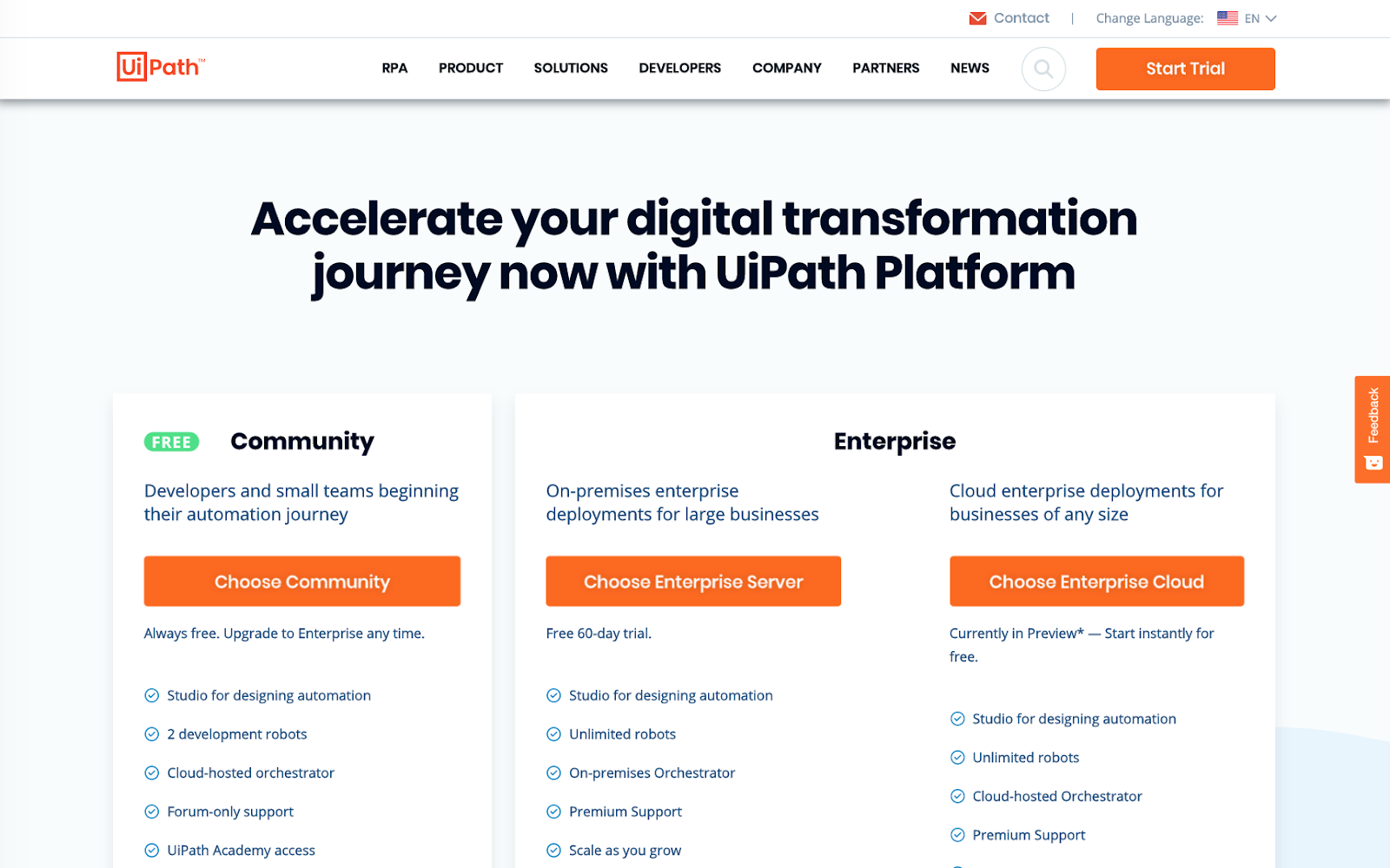 Integration with UiPath Robotic Process Automation