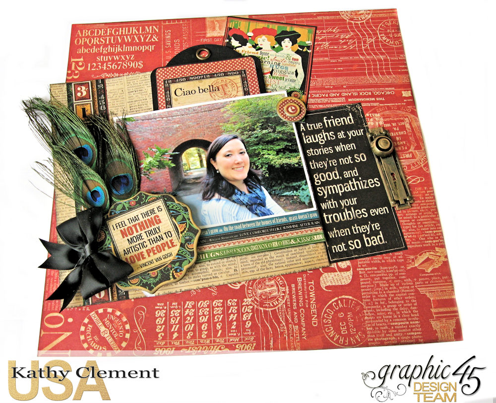 Ciao Bella Layout Tutorial Typography by Kathy Clement Product by Graphic 45 Photo 2 .jpg