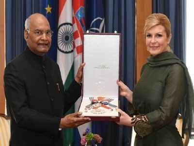 Image result for 4. President Kovind honoured with Croatia's highest civilian order