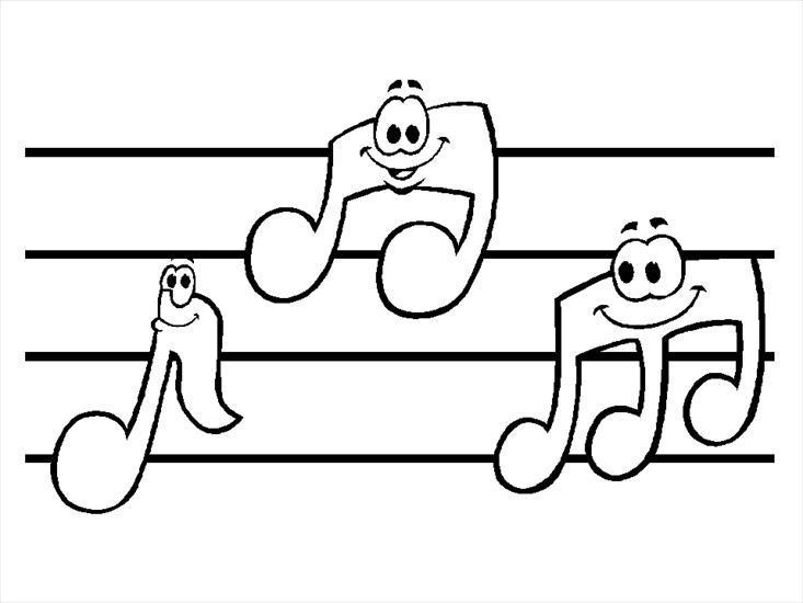 instrumenty muzyczne - kolorowanki - nutki.gif