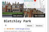 Google Easter egg: Bletchley Park