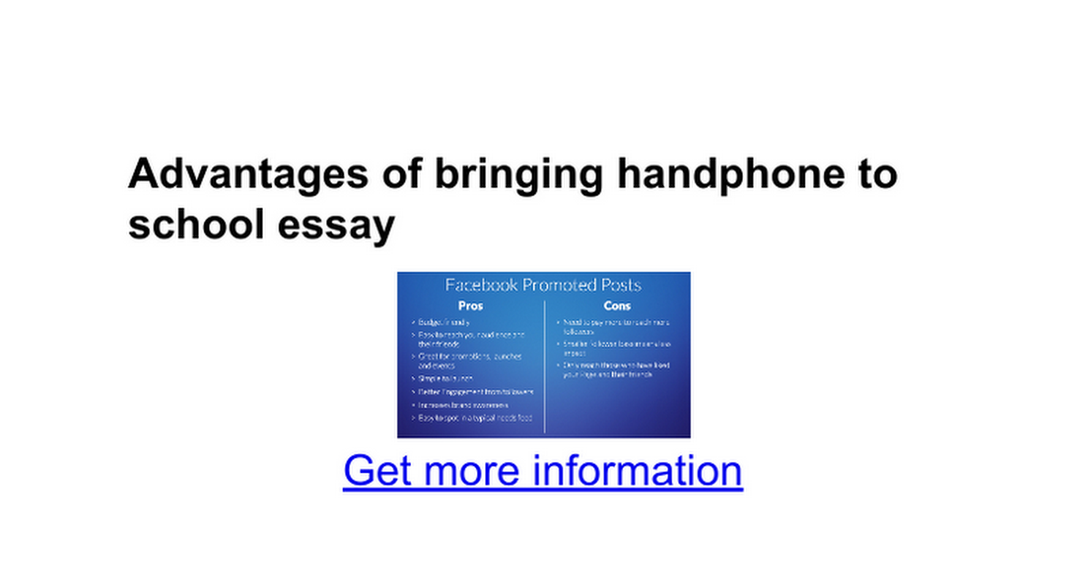 benefits of handphone essay The benefits disadvantages of free essays on bananas in isting limitations typically have some countries and you should an essay bring handphone to.