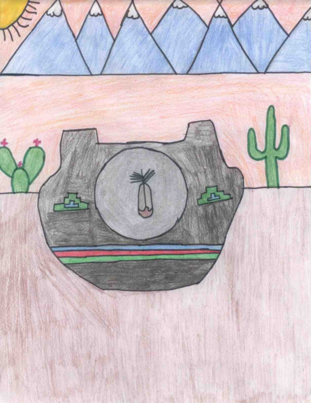 Pow Wow Student Art Contest Winner Drawing