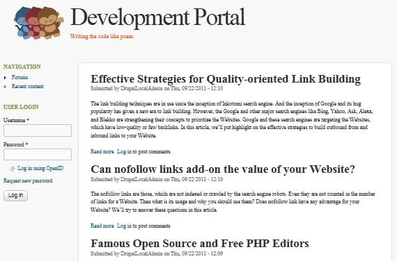 Preview of FooThemes in Drupal 7.8