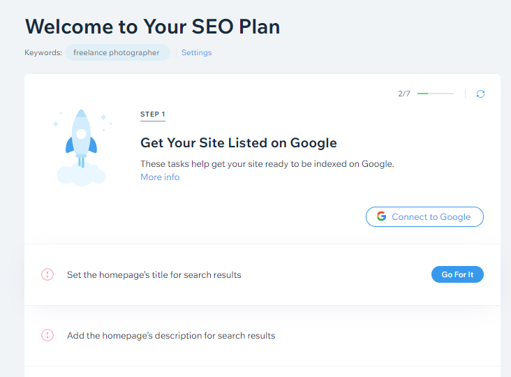 what is wix seo plan?