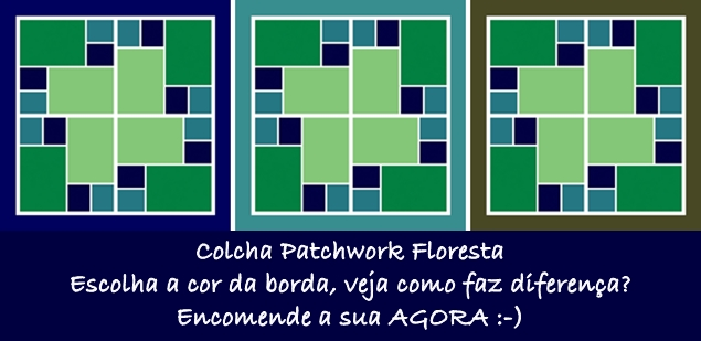 Colcha Patchwork Floresta é mais uma opção da Cia das Mãos Patchwork, especializada em personalização, customização e projetos de colchas patchwork. Conheça nossa coleção, visite nosso site AGORA!