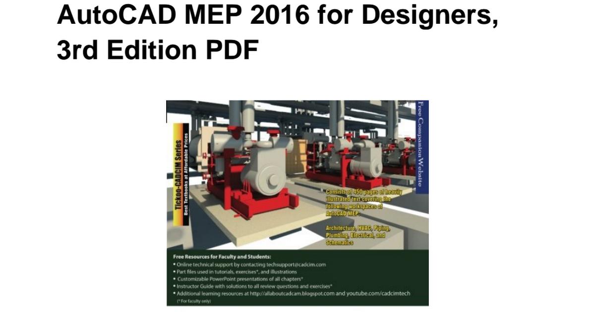 1942689101 Autocad Mep 2016 Designers 3rd Pdf Google Drive