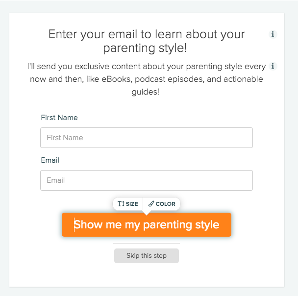 customizing your opt-in form