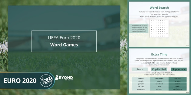 Sports Resources: Euro 2020 Word Games
