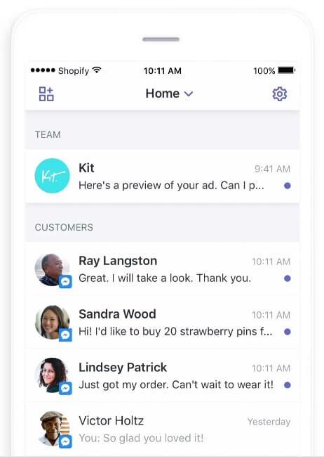 Приложение «Ping» от Shopify
