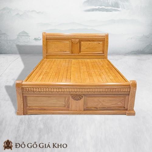 Giường ngủ gỗ Gõ kiểu quạt - GN129