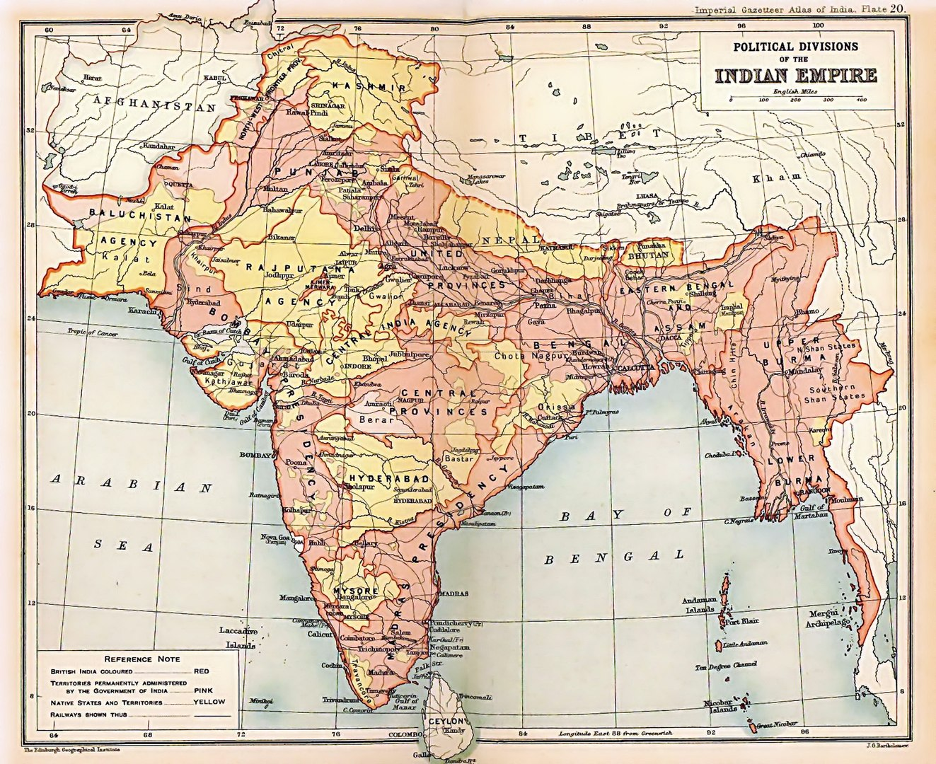 O Raj Britânico foi uma das principais demonstrações do imperialismo na Ásia (Fonte: Wikimedia Commons)