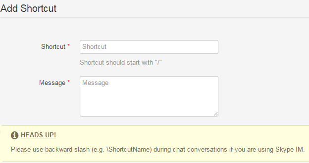 Agent Shortcuts for Live Chat and Helpdesk Automation