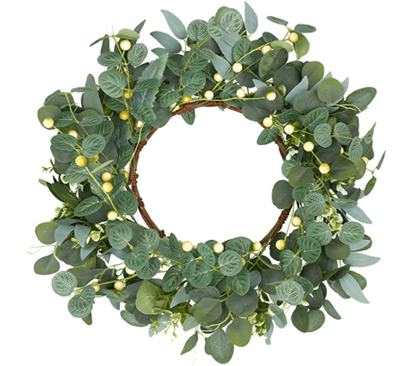 spring decorations eucalypts wreath