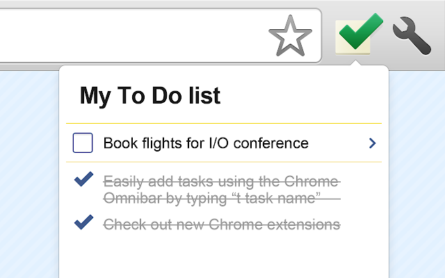 Google Tasks (by Google) chrome extension
