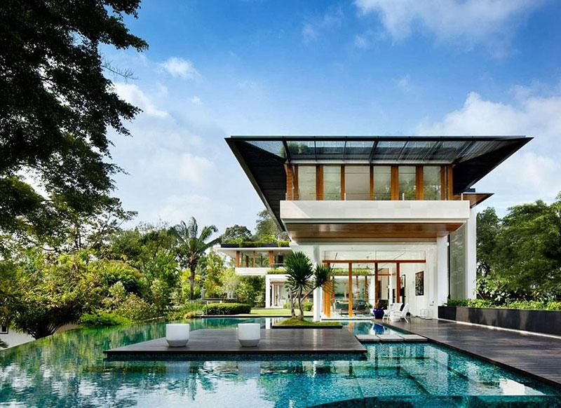 Thiết kế ngoại thất hài hòa khiến ngôi nhà trở nên ấn tượng