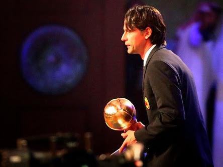 """Inzaghi nhận giải """"Thành tựu trọn đời"""""""