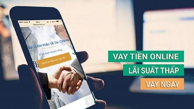 App cho vay online uy tín thường được quảng cáo dịch vụ cho vay trên website