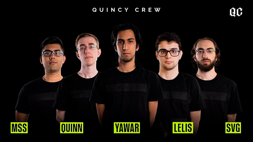 The Quincy Crew roster that was originally going to participate in the Singapore Major 2021
