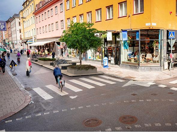 Vagas de estacionamento estão sendo transformadas em espaços de convívio social. (Fonte: Lundberg Design/Reprodução)