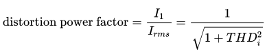 Distortion power factor equation