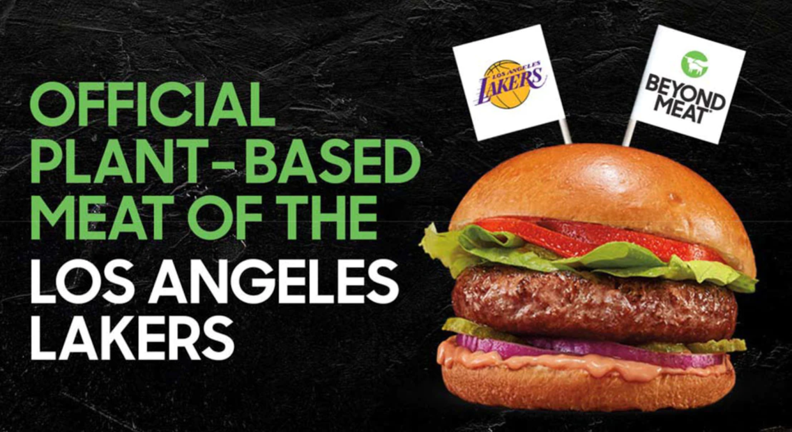 LA Lakers' plant-based burger