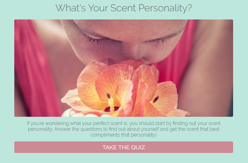What your scent personality branded quiz cover