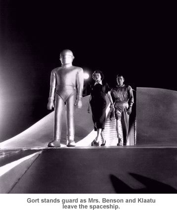 Gort stands guard.