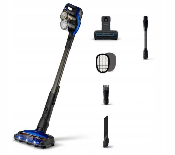 The Philips Cordless Stick Vacuum Cleaner has a long-lasting and efficient battery which allows users up to 70 minutes of operation time on a single charge Source; Lazada.com