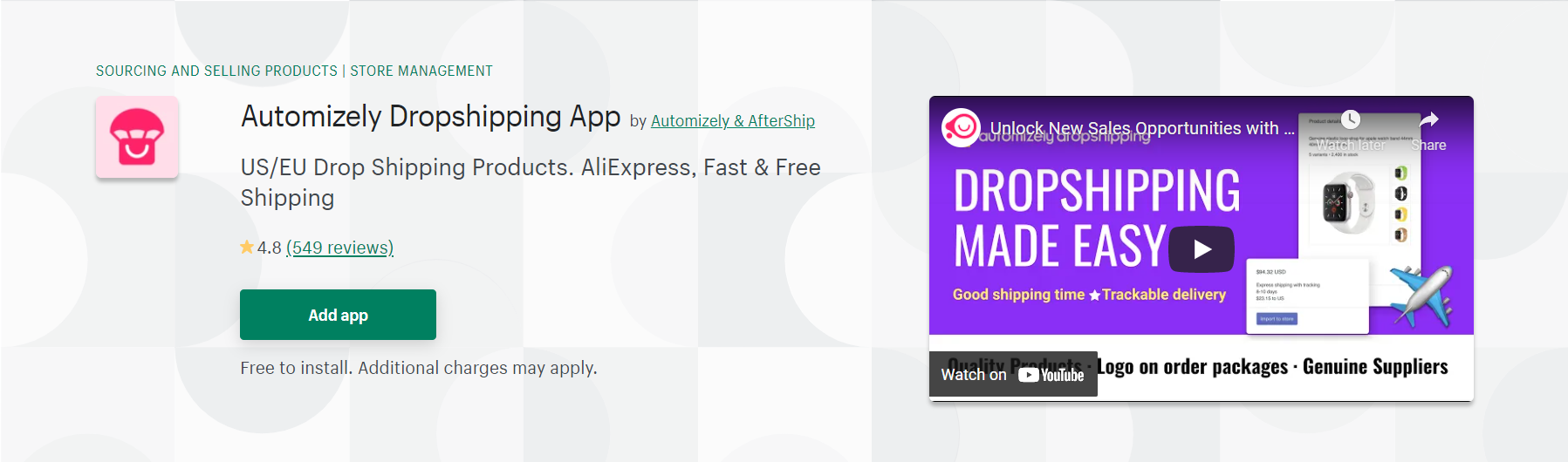 automizely dropshipping app