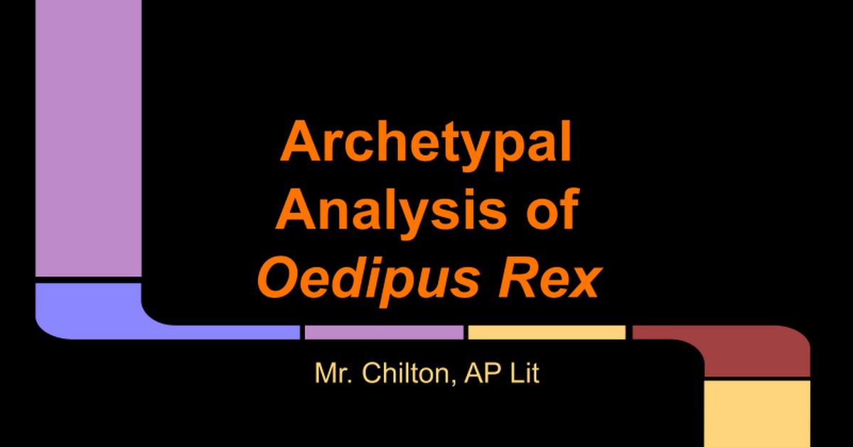 oedipus rex freud
