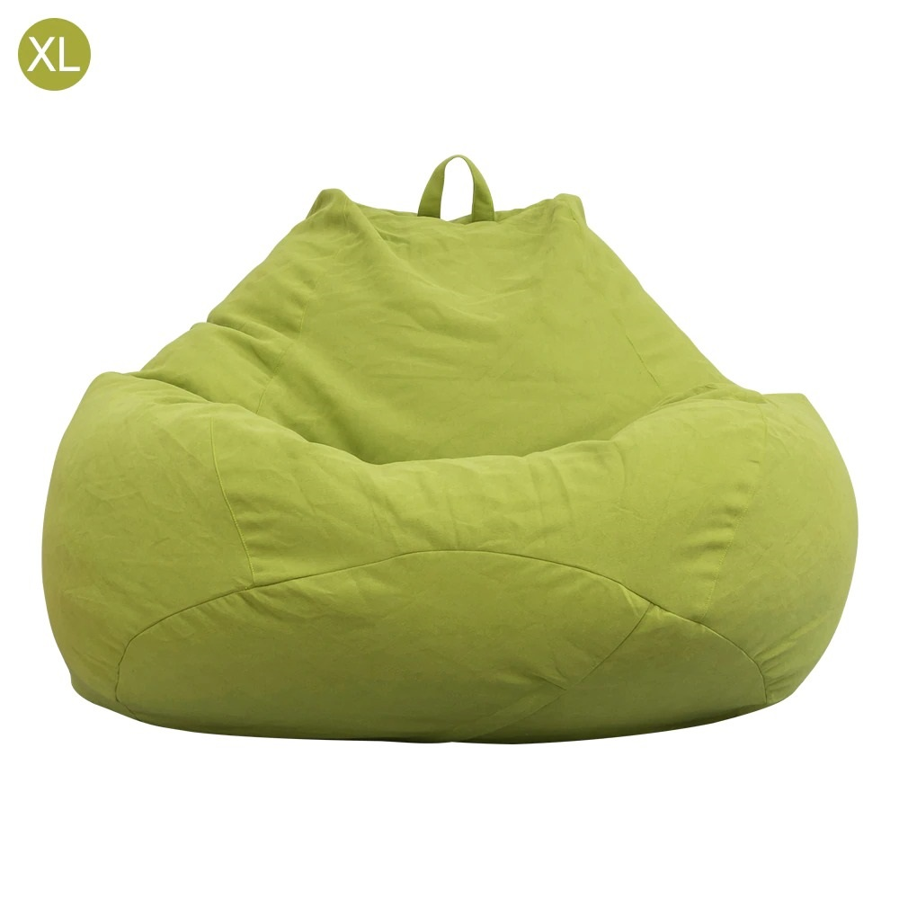 Adults Kids Bean Bag Cover Sofa Couch Cover Indoor Lazy Lounger Bag No Filling