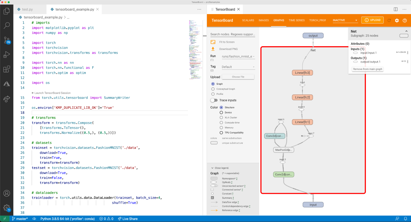 TensorBoard integration with VS Code