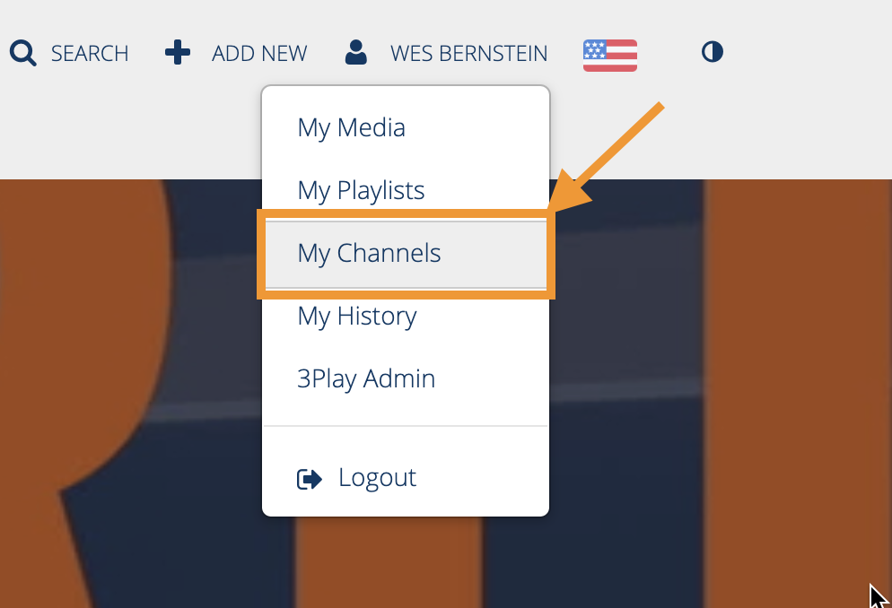 The MyMedia button in Mediaspace.