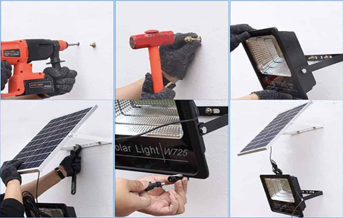 cách lắp đèn năng lượng mặt trời trong nhà 50W