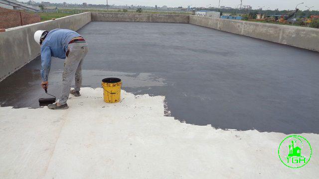 sơn lót khi chống thấm ngược sàn mái