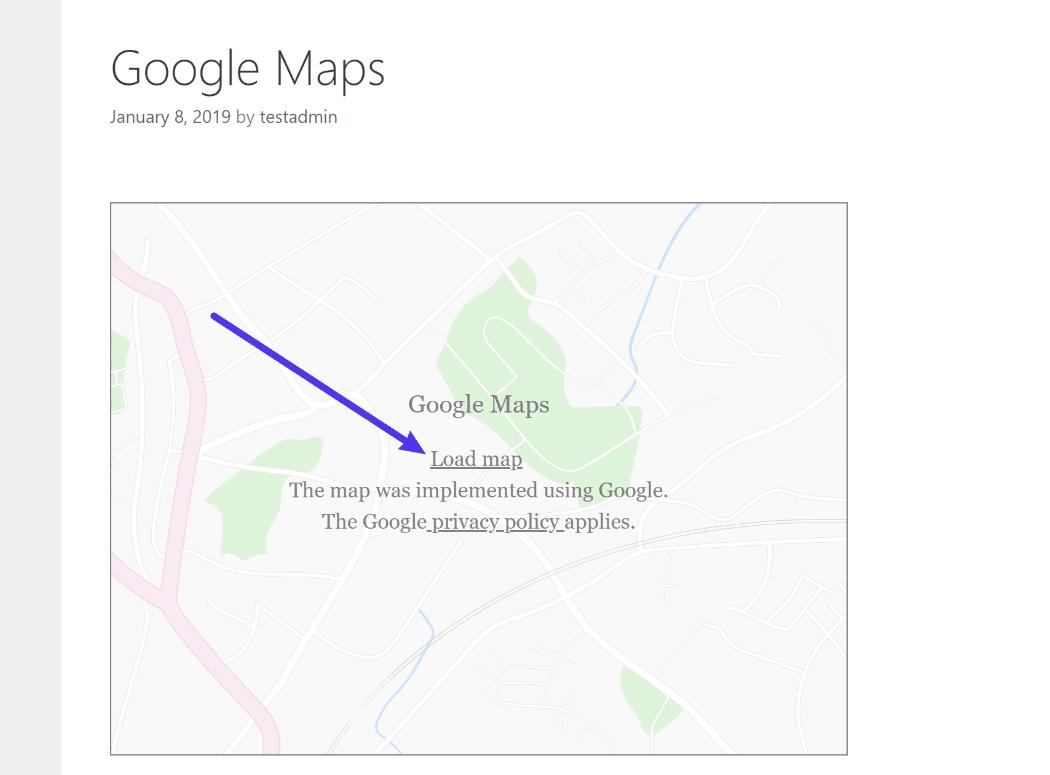 Google Maps placeholder image
