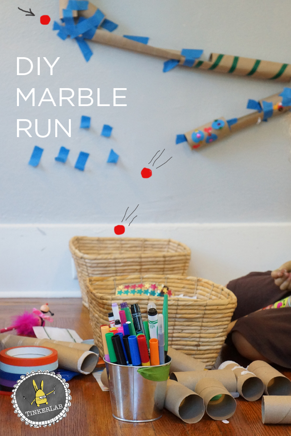 With simple, household supplies like paper rolls and tape, I'll show you how to make a marble run with kids as we think like engineers.