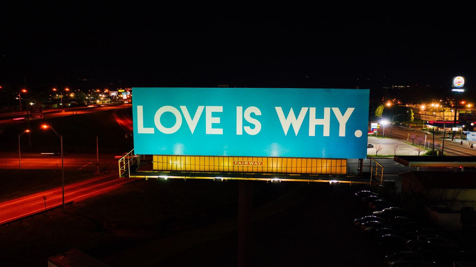 advertising billboards on the street