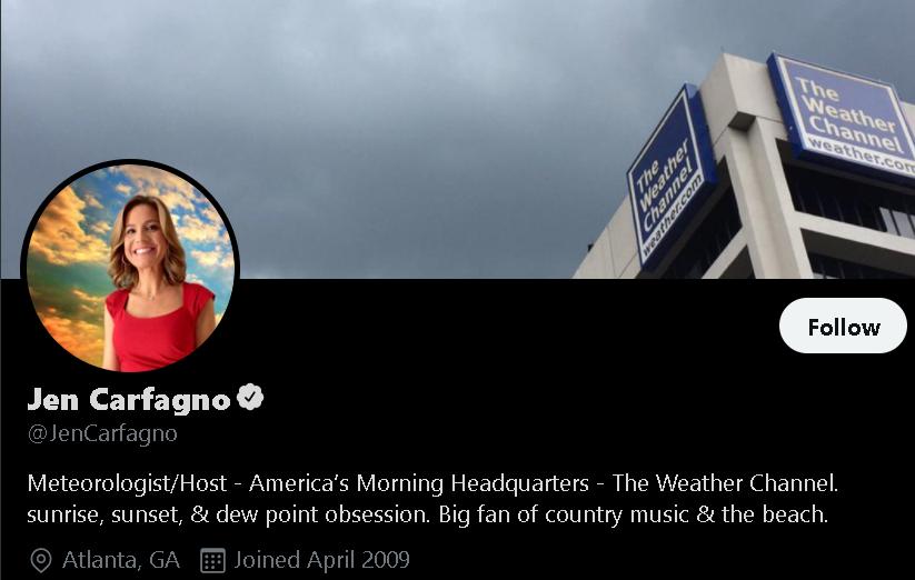 Jennifer Carfagno - Weather Influencer