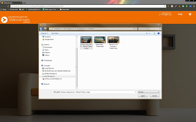 Image result for VideoStream chrome extension
