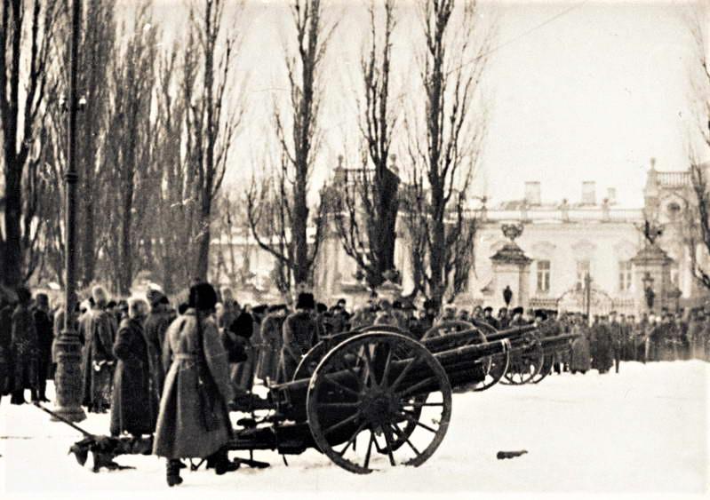 Більшовицька артилерія біля Маріїнського палацу, 1919 рік