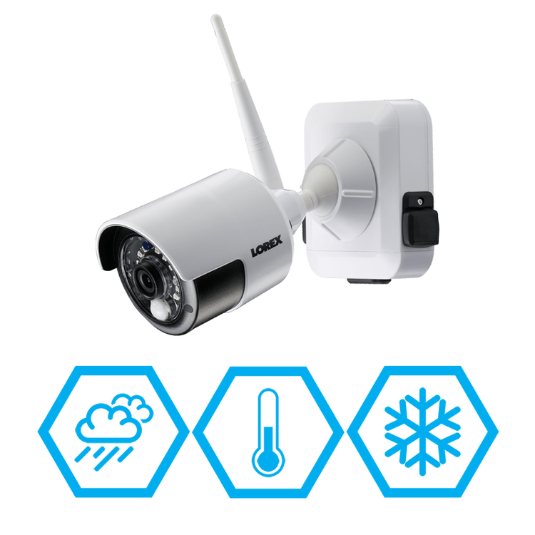 weather resistant wire-free security cameras