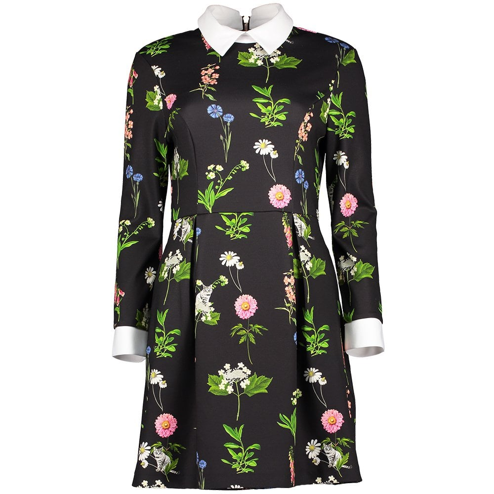 TED BAKER Matredi Florence Print Collar Dress