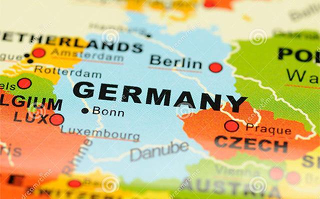 Tổng quan về nước Đức: Tên nước Đức bằng tiếng Anh trên bản đồ thế giới