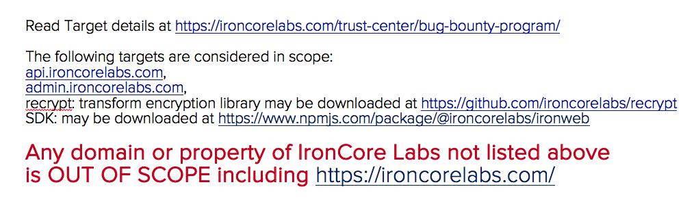 https://ironcorelabs.com/trust-center/bug-bounty-program/