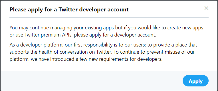 Apply the Twitter app