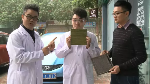 study on cleaning car air filters with compressed air